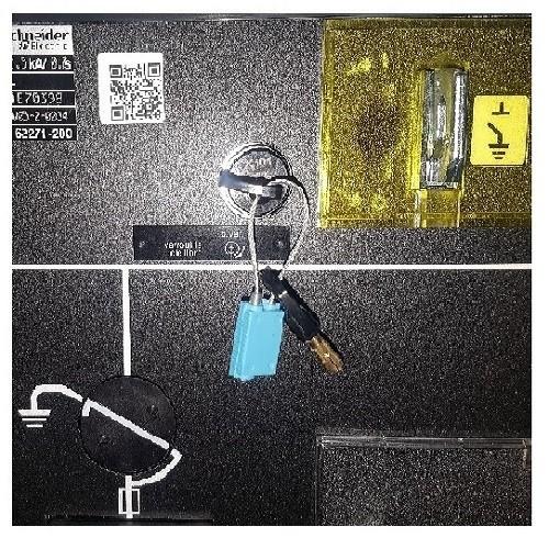 ADVCATB - 6.10 € unitaire  Anneau indémontable bleu pour clé d'interverrouillage