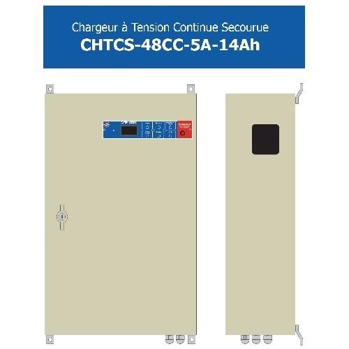Chargeur 48CC - 5A-14Ah Alimentation 230V  AC + batteries