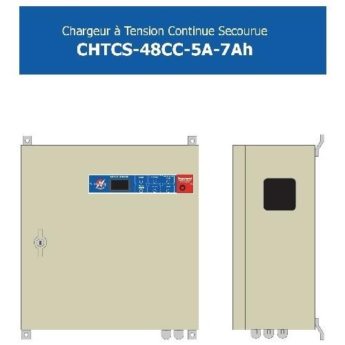 Chargeur 48V CC - 5A-7Ah alimentation 230V AC + batteries