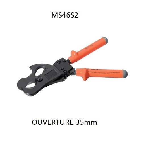Coupe câble en bout ALU/CU Ouverture 35 MM isolé 1KV