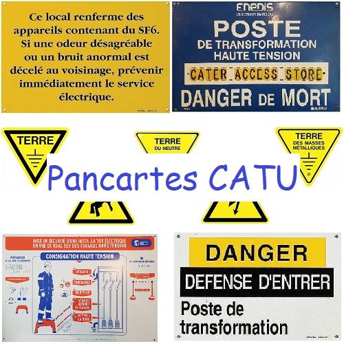 KIT AFFICHAGE Réglementaire Catu AM801/1 STD