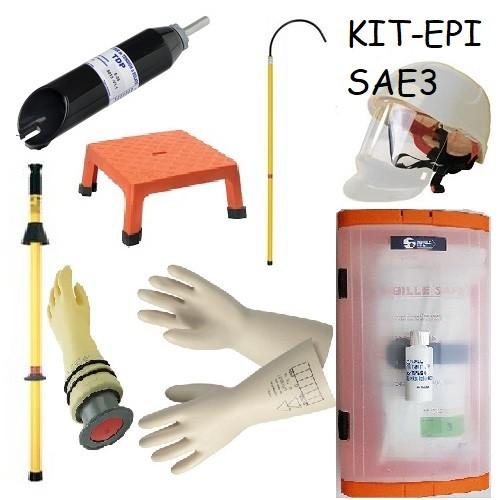 KIT EPI SAE-3 avec VAT à éclats + vérificateur pneumatique + casque + housse