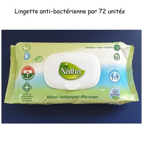 LINGETTE72 Lingette hydroalcoolique anti-bactérienne par 72 unités