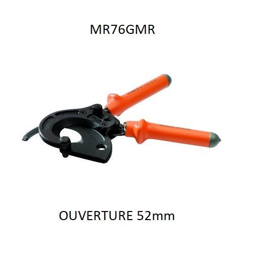 MS76GMR 300² ouverture 54mm Coupe câble ALU/CU