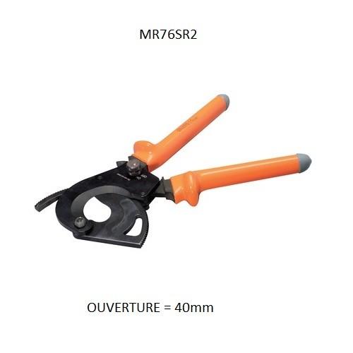 MS76SR2 Coupe câble ALU/CU Ouverture 40mm isolé 1KV