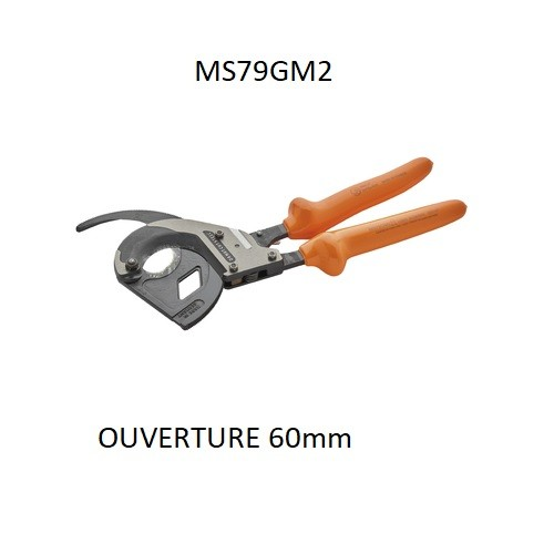 MS79GM2 Coupe câble ALU/CU Ouverture 60mm isolé 1KV