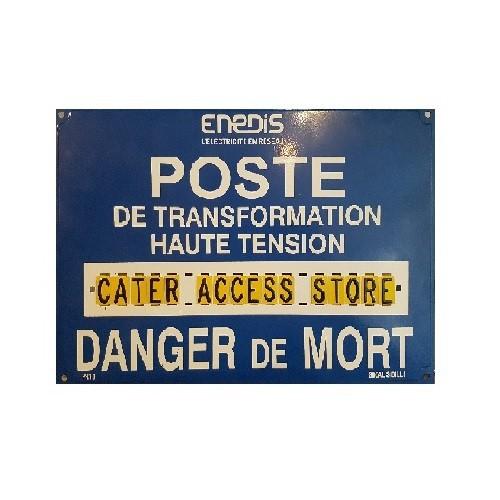 S80ALPR10 Pancarte Enédis Poste Haute Tension 1 x Ligne