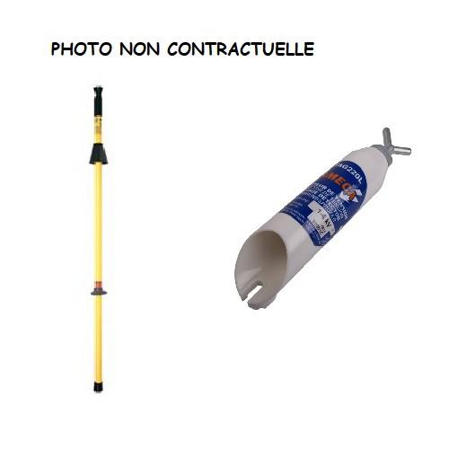 TAG220F + Perche fixe - Détecteur Visuel et Sonore 10-36kv