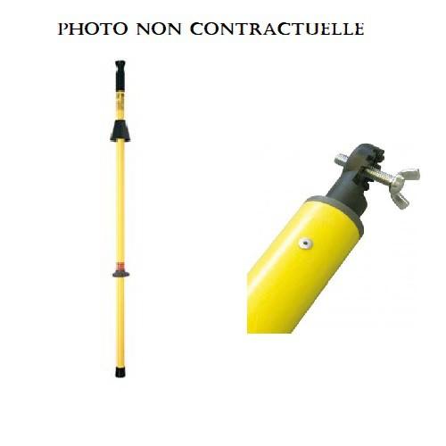 TP13PM Perche isolante fixe seule + colliers muraux diamètre 32 mm KC18532